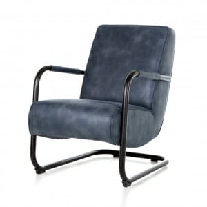 Fauteuil-industrieel-stof-blauw