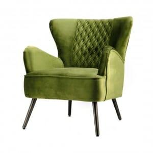 Fauteuil-trendy-groen-velours