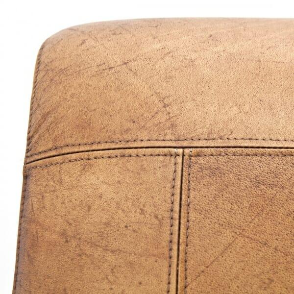 Industriële-fauteuil-cognac-leer-detail
