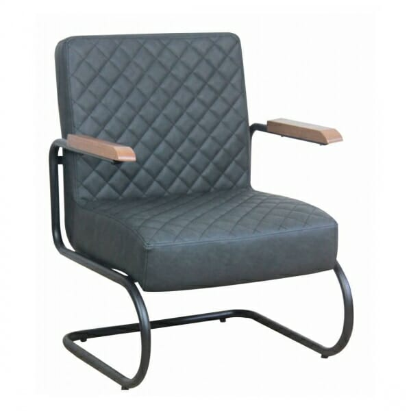 Industriële-stoere-fauteuil-antraciet
