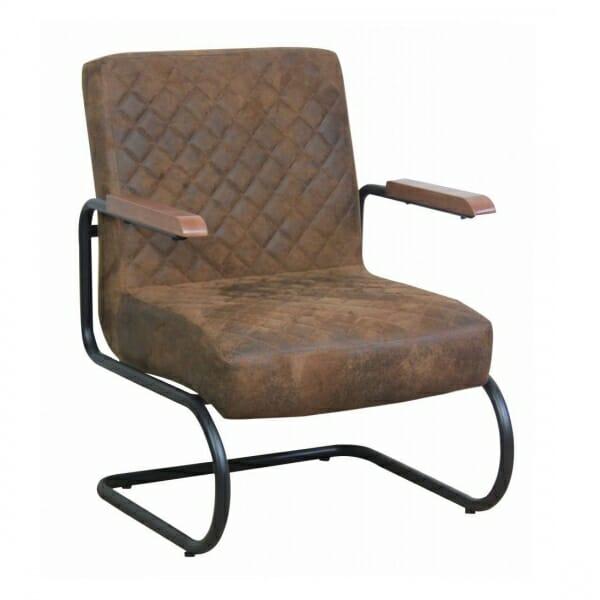 Industriële-stoere-fauteuil-bruin-vintage