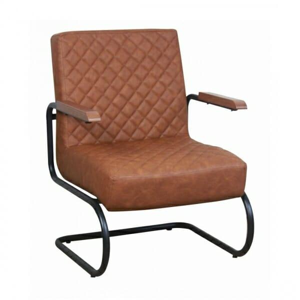 Industriële-stoere-fauteuil-cognac