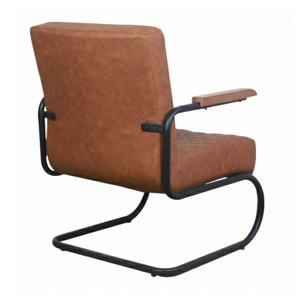Industriële-stoere-fauteuil-cognac-achterkant