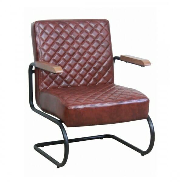 Industriële-stoere-fauteuil-vintage-bruin
