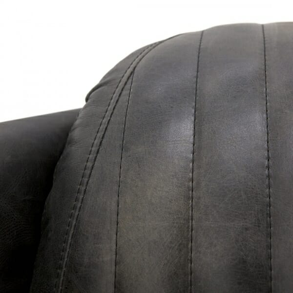 Industriële-zwarte-fauteuil-leder