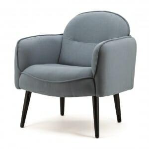 Landelijke-fauteuil-blauw-stof