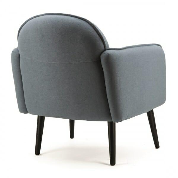 Landelijke-fauteuil-blauw-stof- achterzijde