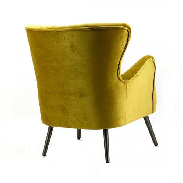 Landelijke-fauteuil-geel-velours-achterzijde