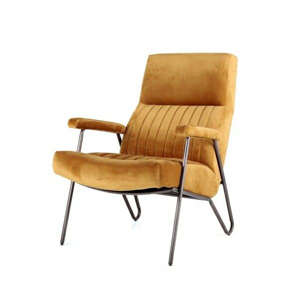 Luxe-fauteuil-velvet-oker