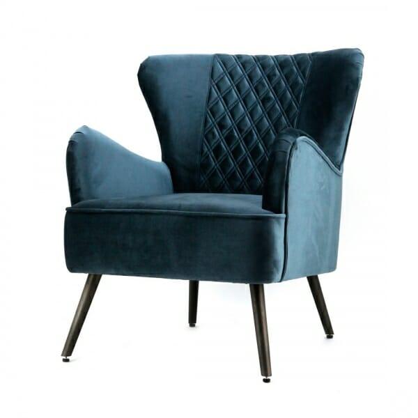 Trendy-fauteuil-velours-blauw-landelijk