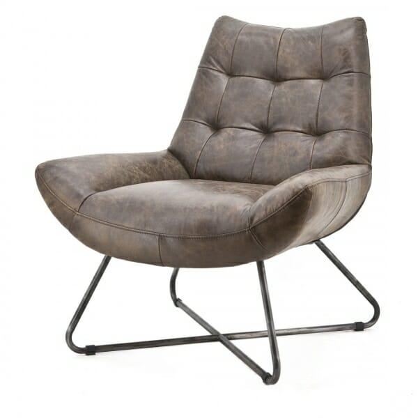 Vintage-fauteuil-leder-voorzijde