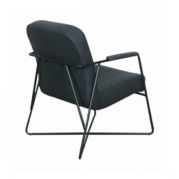 Vintage-fauteuil-metalen-onderstel-antraciet-achterkant
