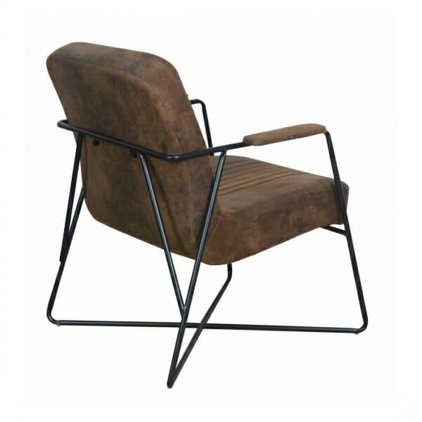 Vintage-fauteuil-metalen-onderstel-bruin-achterkant