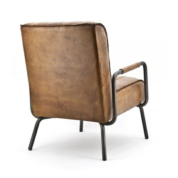 Industriële fauteuil achteraanzicht