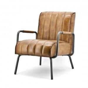 Industriële fauteuil vooraanzicht